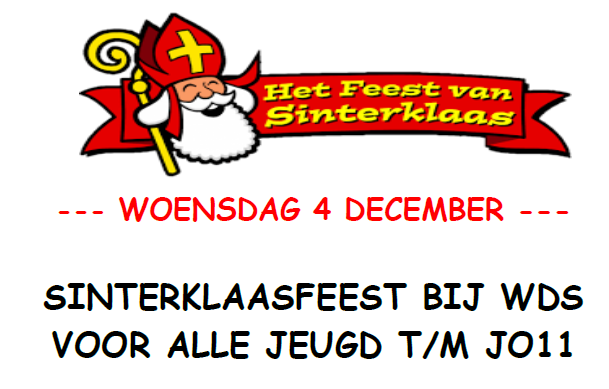 Sinterklaas komt naar WDS 4