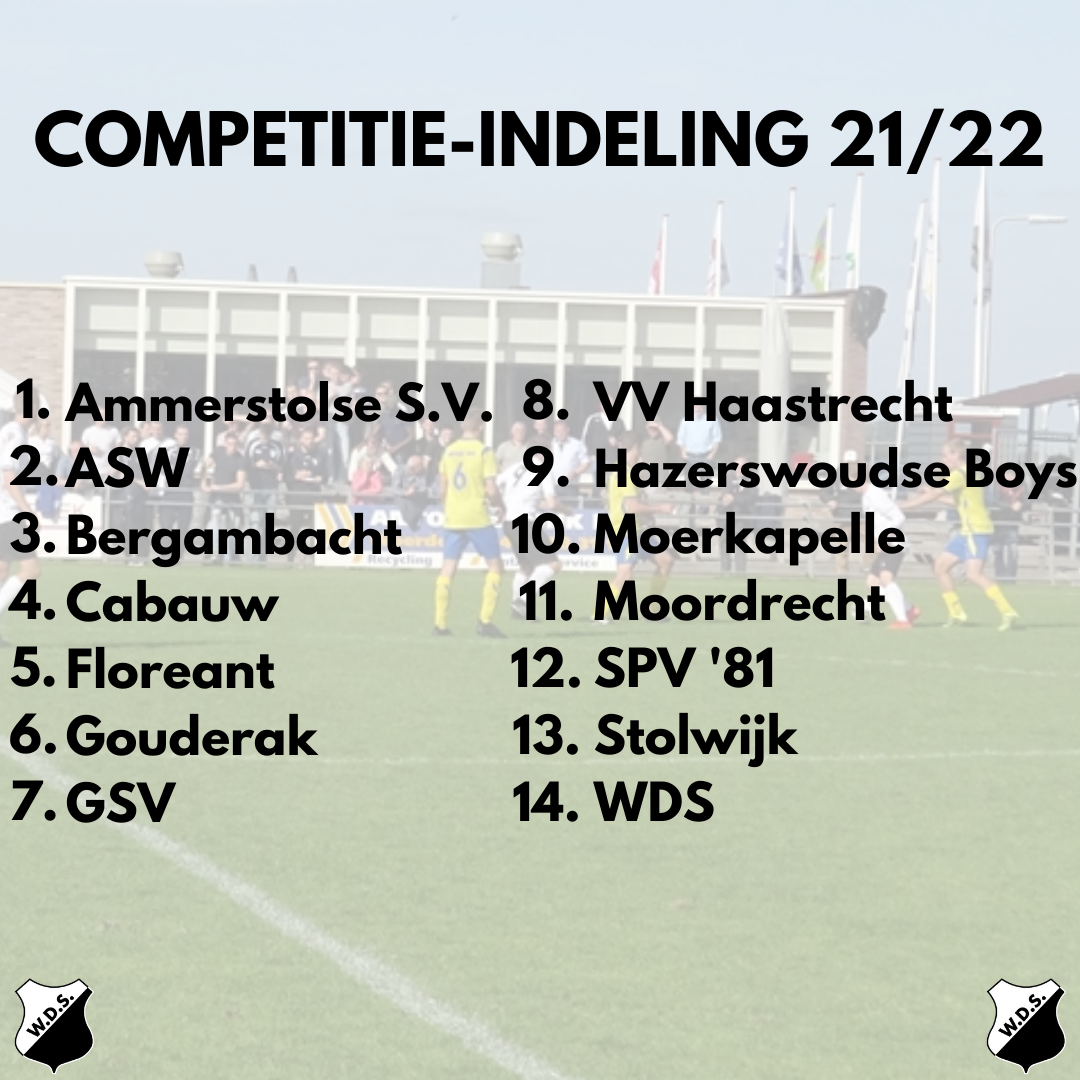 Competitie indeling WDS 1