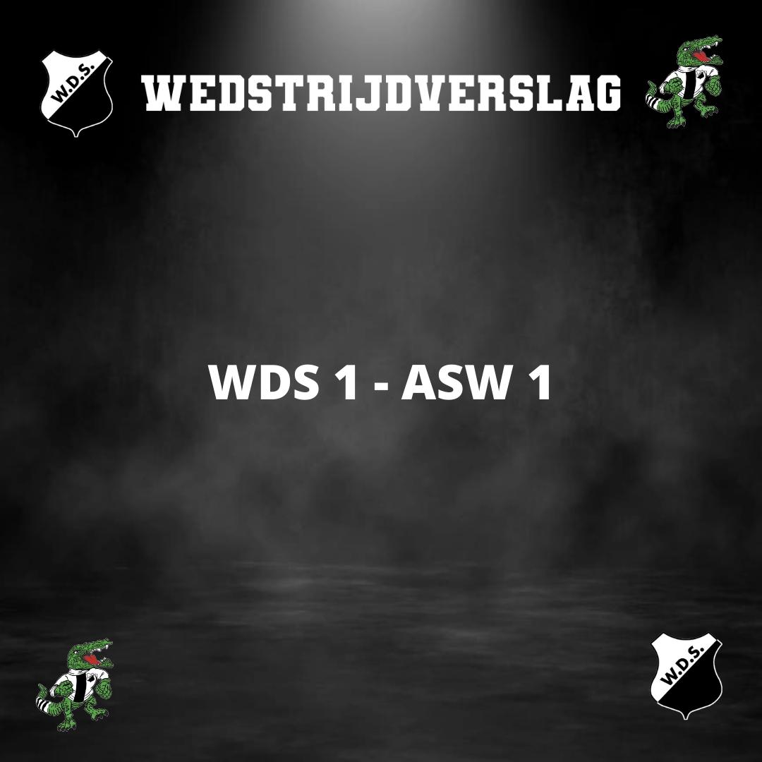 WDS 1 zonder problemen langs ASW 1